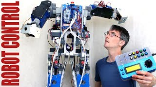 Building Robot X #10 | Robot Arm Control | James Bruton