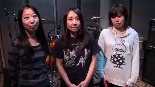 SHONEN KNIFE / 少年ナイフare filmed in the studio as they record th...