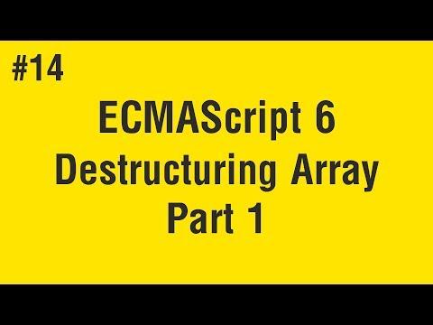 learn-ecmascript-6-in-arabic-#14---destructuring-array-part-1