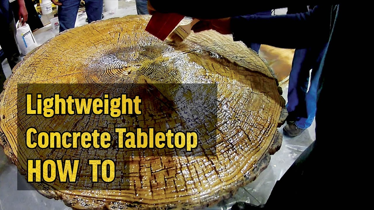 Superieur How To Make A Lightweight Concrete Table