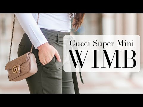 WHAT'S IN MY BAG - Gucci Marmont Super Mini | LuxMommy