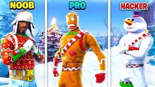 NOOB vs PRO vs HACKER - (Fortnite Battle Royale Funny Moments) #3
