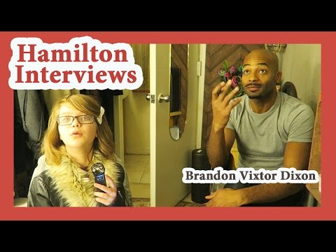 Hamilton Interviews with Brandon Victor Dixon AARON BURR, SIR!