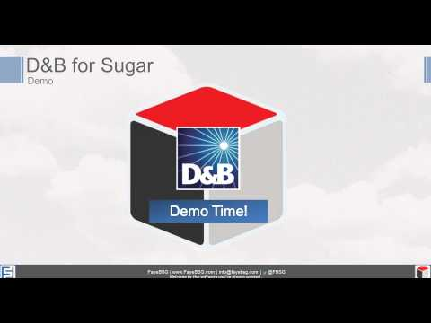 D&B for SugarCRM:  Get The Most Trusted Source of Business Info