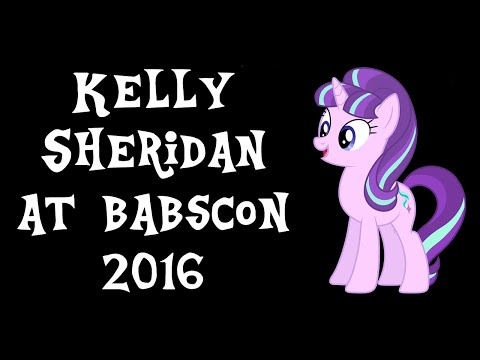 An  With Kelly Sheridan at BABSCon 2016