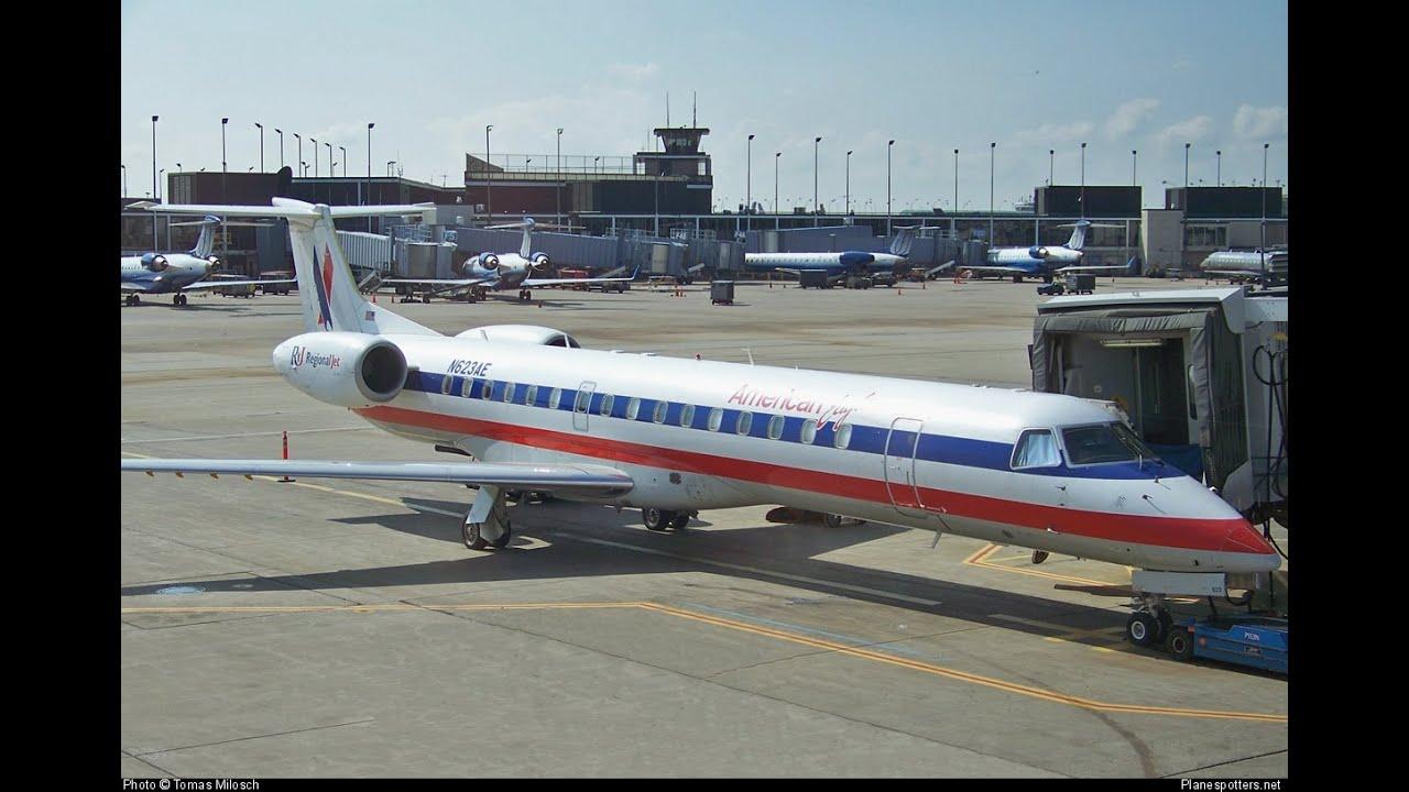 Full Flight American Eagle Envoy Air E145 Ord Cle