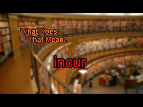 What does incur mean?