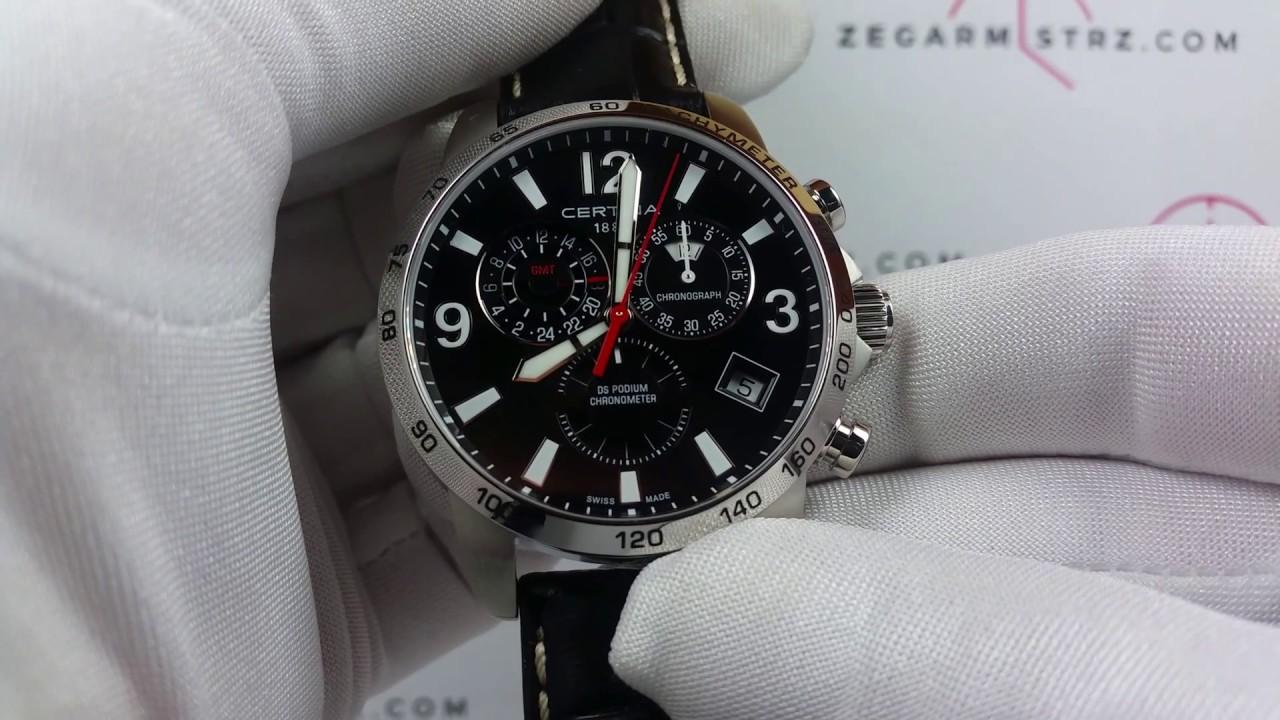 Gent 00c0346541605700 Certina Gmt C034 057 Ds Zegarek Chronograph Cosc 654 16 Chronometer Podium L54ARj3