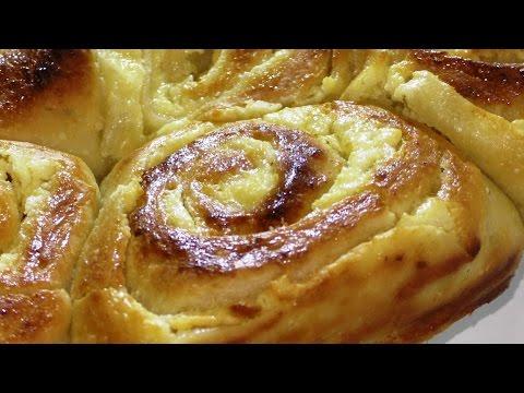 Рецепт булочек с творогом к чаю. Recipe buns with cottage cheese for tea.