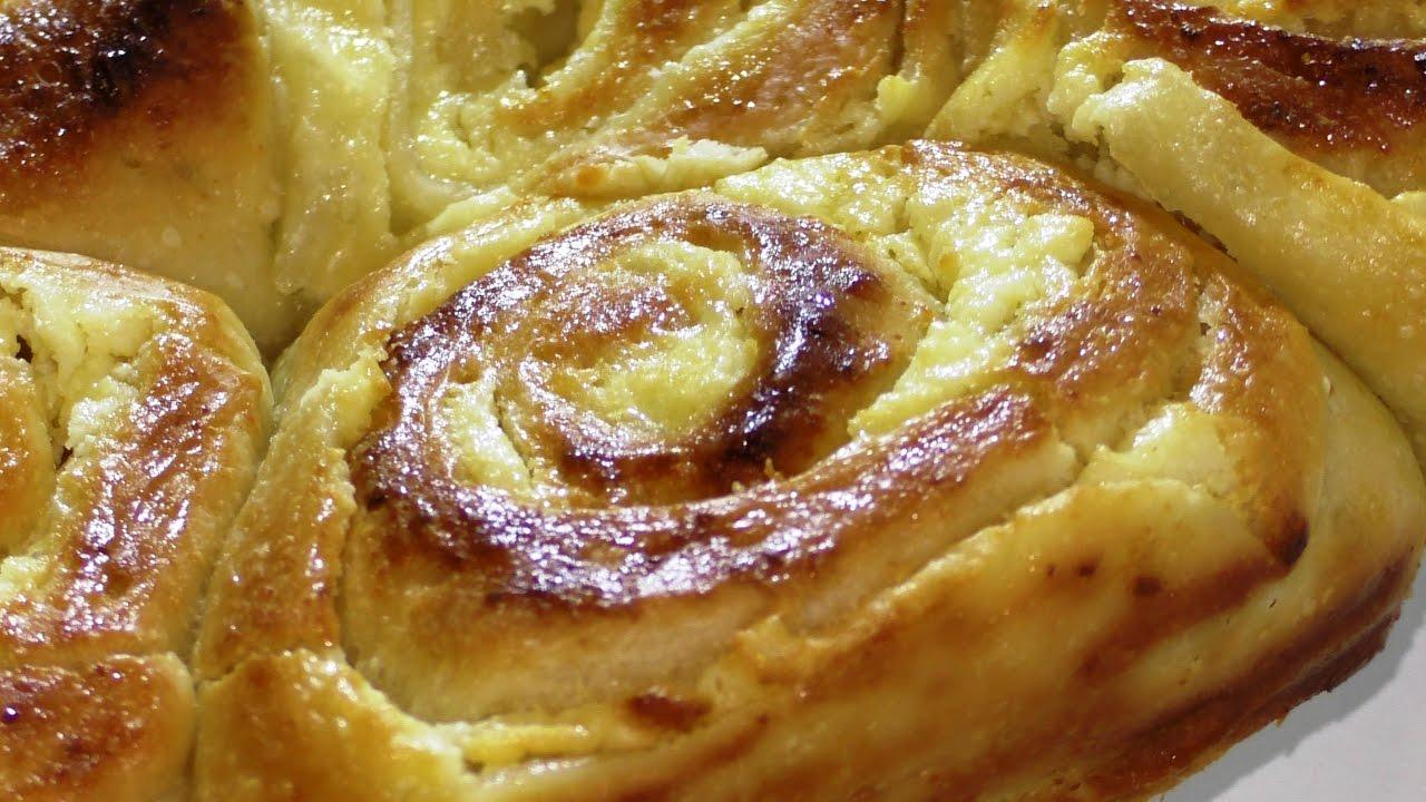 рецепт булочки с творогом