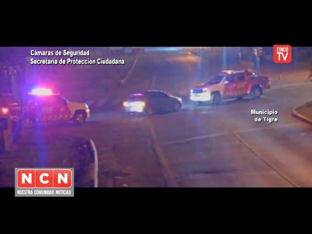 CINCO TV  - Conductor ebrio y en contramano detenido gracias a las cámaras de COT