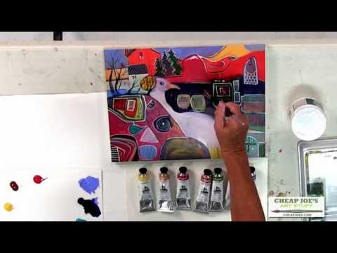 "Why I Like American Journey Professional Artists' Acrylics with ""Cheap"" Joe Miller"