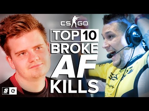 Top 10 Broke AF Kills in CS:GO (Eco Round Aces)