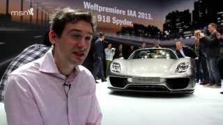 Porsche 918 Spyder at the Frankfurt Motor Show 2013