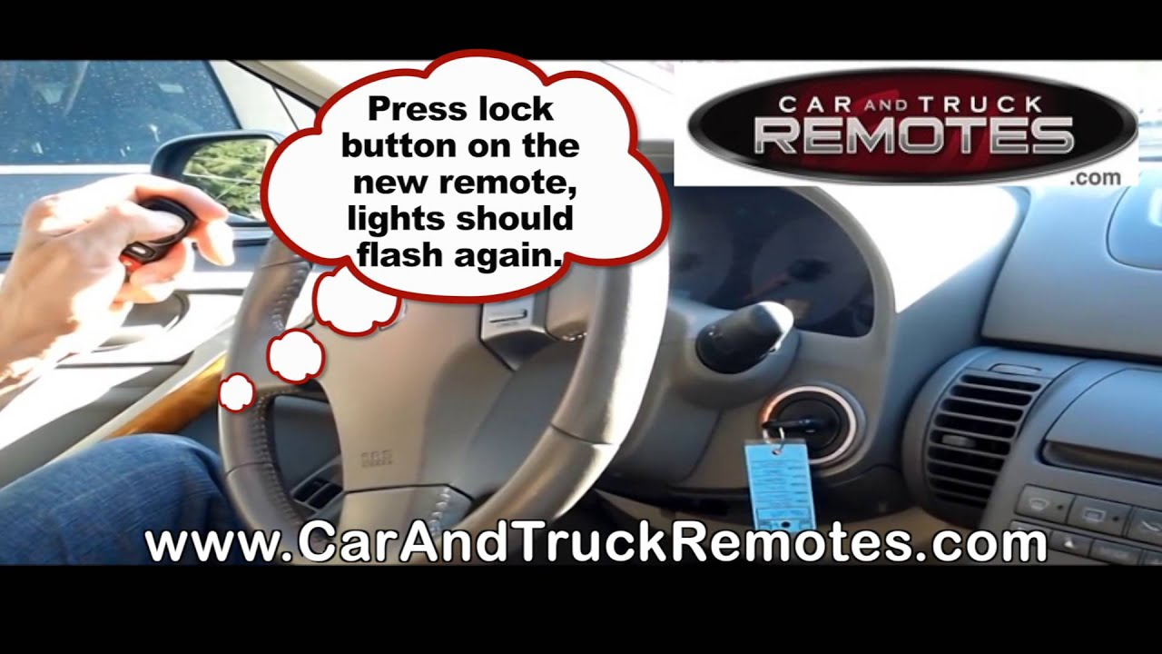 Infiniti Qx4 Replacement Remote Programming 1997 2007 Youtube Battery