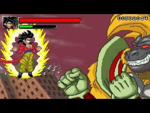 Dragon Ball GT Transformation - SSJ4 Goku Vs Great Ape Baby【HD】