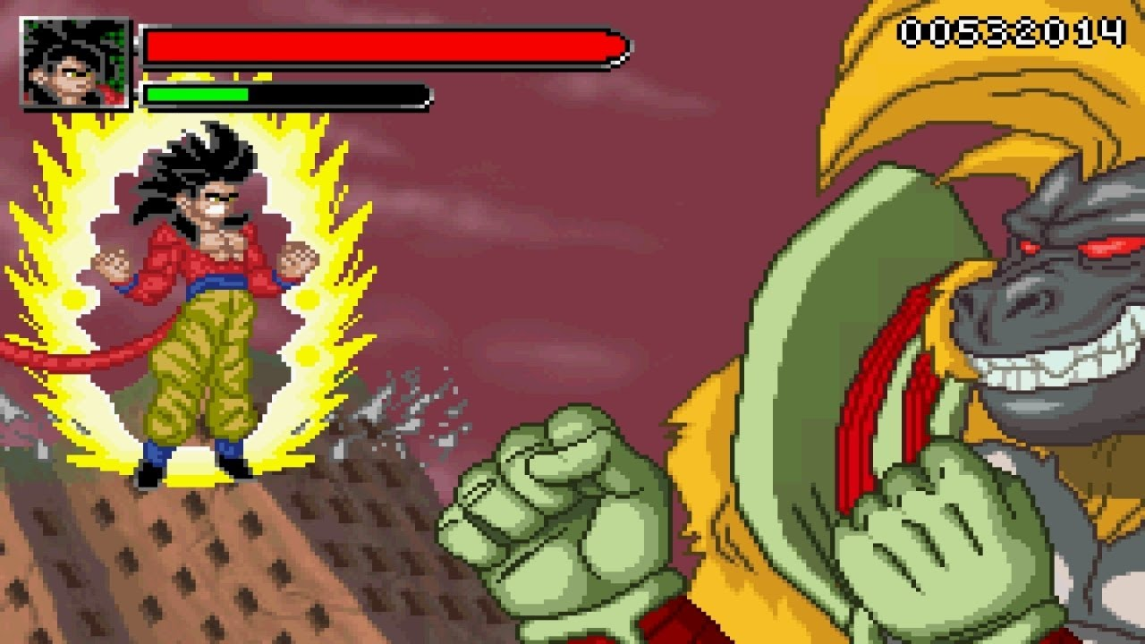 Ball GT Transformation - SSJ4 Goku vs Great Ape Baby【HD】 - YouTube
