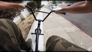 RIDING BMX IN LA COMPTON GANG ZONES 16 (CRIPS & BLOODS)