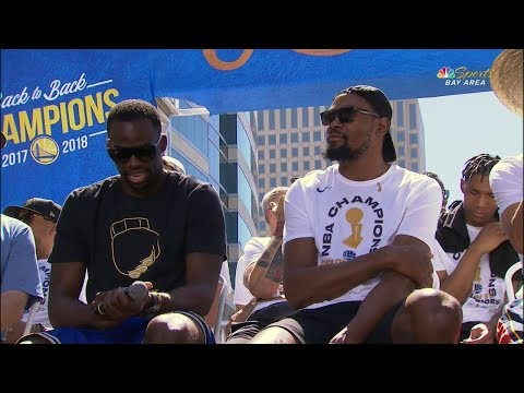 Kevin Durant & Draymond Green Interview - 2018 Golden State Warriors Championship Parade