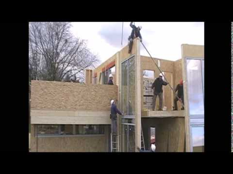 holz haus construction montage moderne holzh user. Black Bedroom Furniture Sets. Home Design Ideas