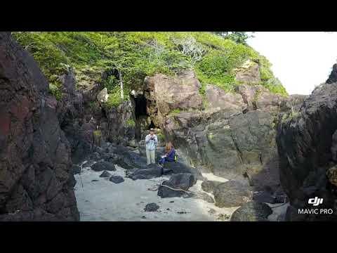 San Josef bay Vancouver island Port Hardy Cape Scott park north island drone footage Holberg
