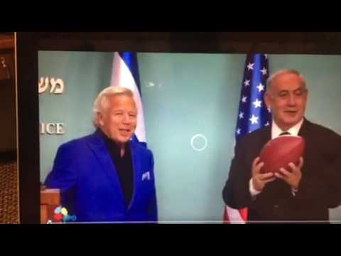 Benjamin Netanyahu Shows Textbook Left Handed NFL Football Throw