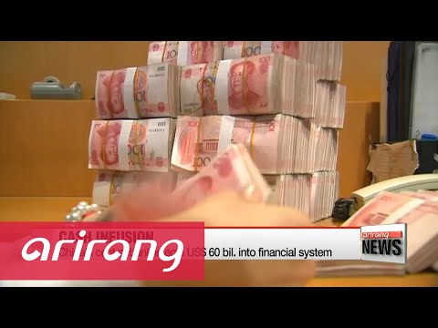 China's central bank injects US$60 bil. into financial system