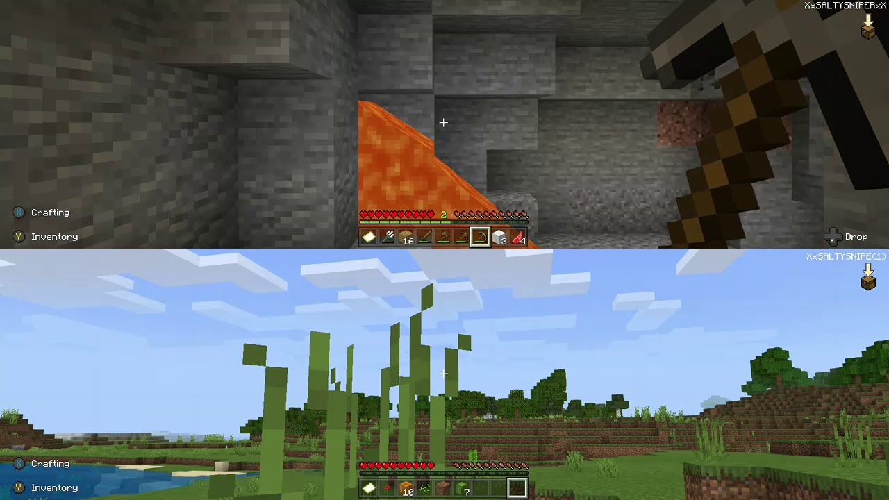 Minecraft 2 player aurvival play through part 1.