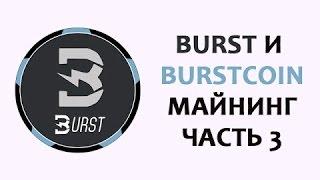 Burst и Burstcoin BURST Плотинг и майнинг Ч