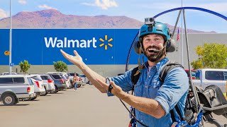 Flying To Walmart On My Paramotor