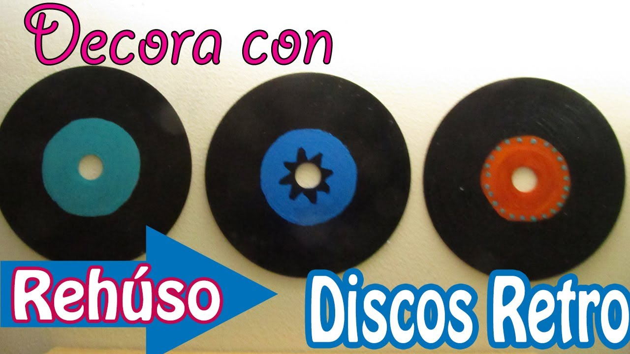Disco Retro Tipo Vinilo Hecho De Cds Para Decorar Tu Recamara