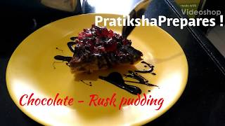 Delicious Recipe #3 | Yummy Chocolate - Rusk pudding | Eggless | Quick n Easy | Kid