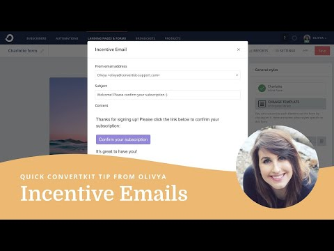 How to edit the incentive email in ConvertKit