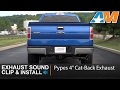 "F150 3.5L EcoBoost Pypes 4"" Cat-Back Exhaust Sound Clip & Install 2011-2014"