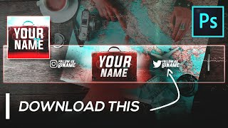 Travel Vlogger Youtube Banner Template (FREE) | Photoshop (2020)