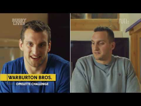 Wales rugby's Sam Warburton vs brother Ben in omelette challenge