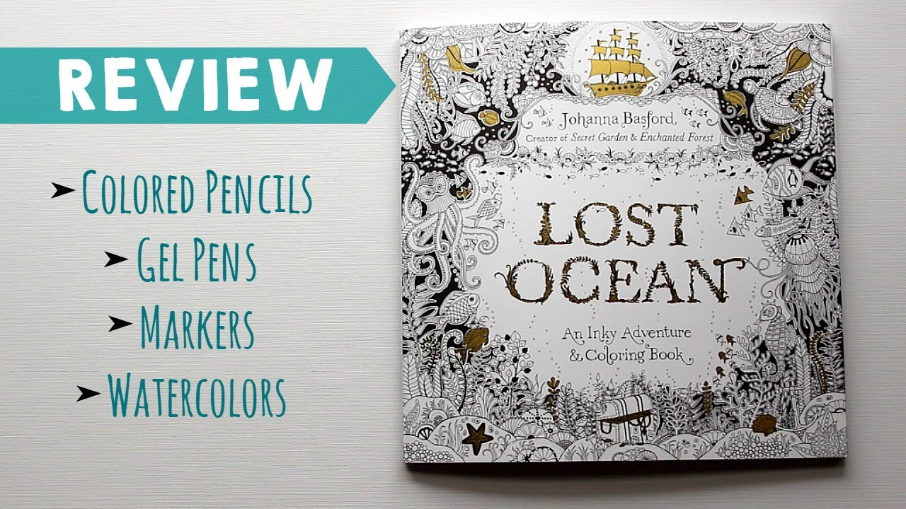 Lost Ocean By Johanna Basford Coloring Book Review