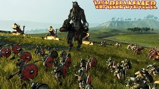 Warhammer CHAOS vs BRETONNIA BATTLE (Total War: Warhammer Gameplay)