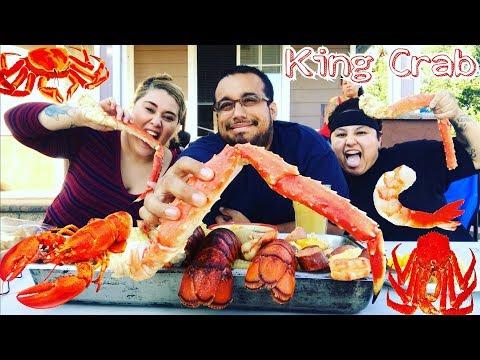 ⚠️🦀 SEAFOOD BOIL MUKBANG | KING CRAB | LOBSTER TAIL | TIGER SHRIMP | ALASKAN RED KING CRAB MUKBANG