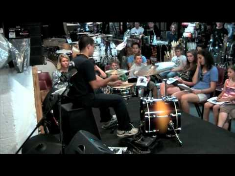 Giorgio Rojas at Sydney Drummers Initiative
