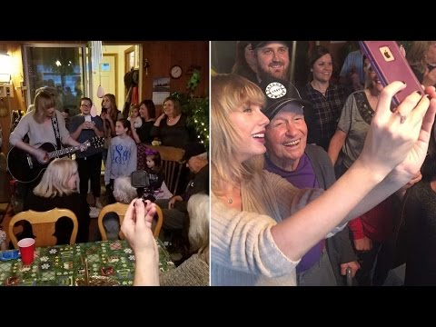 Taylor Swift Shocks WWII Vet Fan, 96, With Home Concert On Day After Christmas