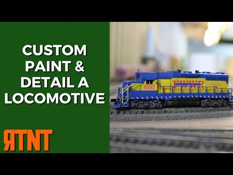 Custom Paint and Detail a Model Railroad Locomotive