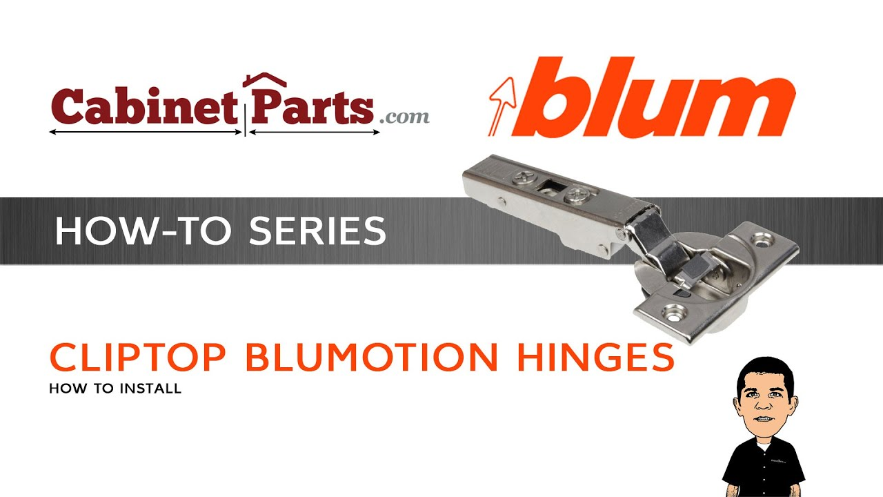 How to Install and Adjust a Blum Cliptop 110 degree Blumotion ...