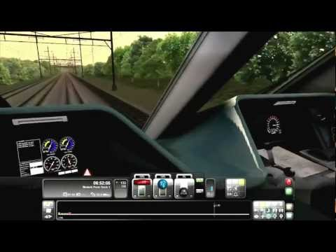 RailWorks 3 Train Simulator 2012 Over the Speed Limit 145 MPH Electric Train With Music |