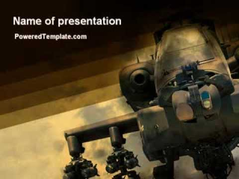 military helicopter powerpoint templatepoweredtemplate, Modern powerpoint