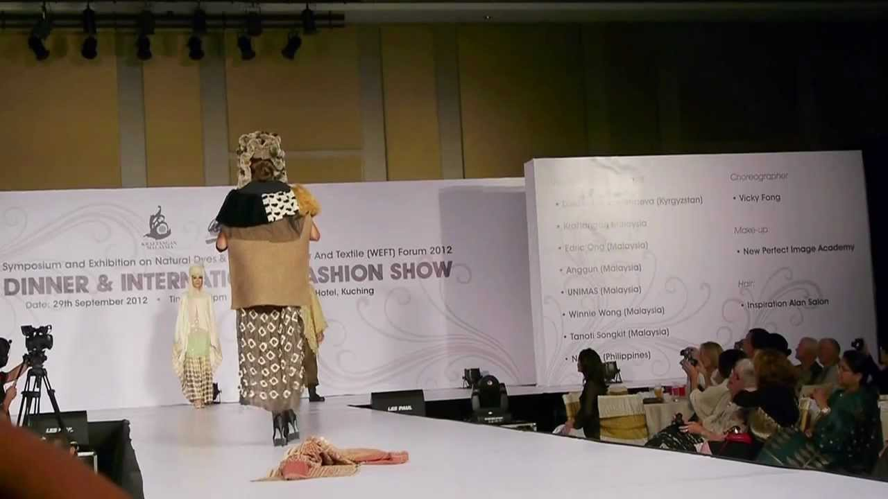 Edric Ong Collection at the WEFT Fashion Show, Kuching Sept 29, 2012.mov