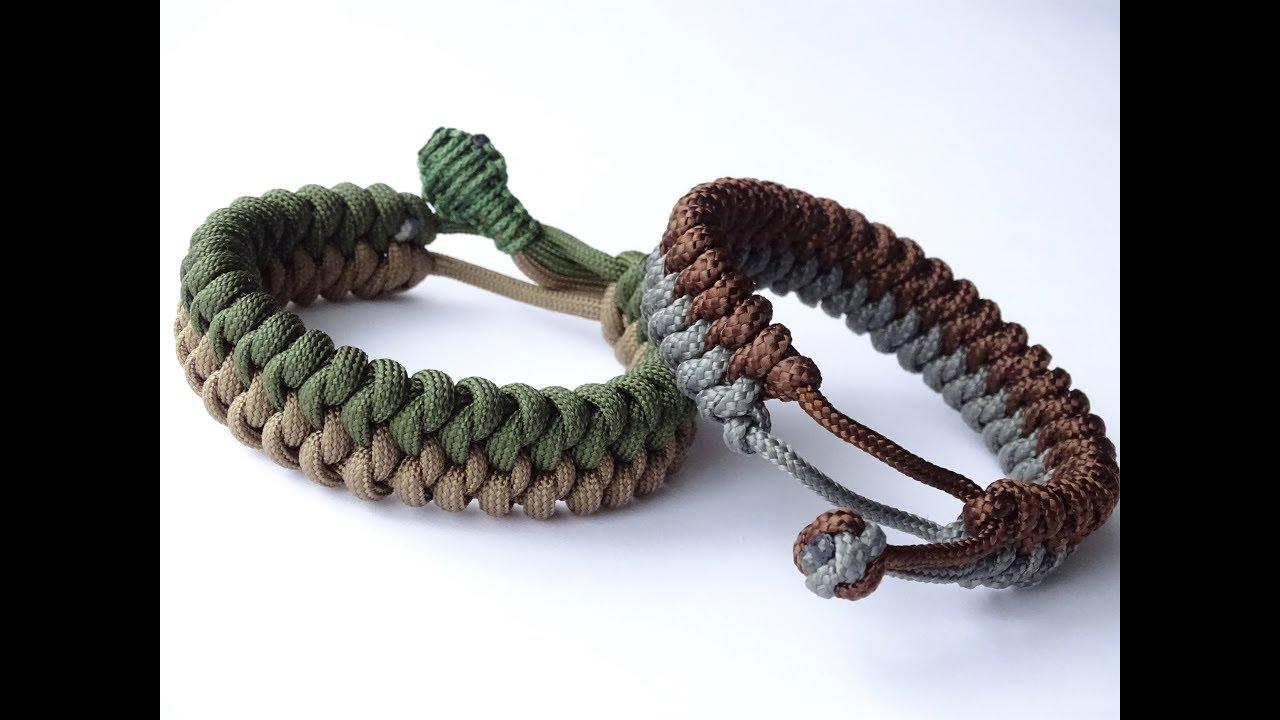 Shark Jaw Bone Paracord Bracelet-Rasta//Black