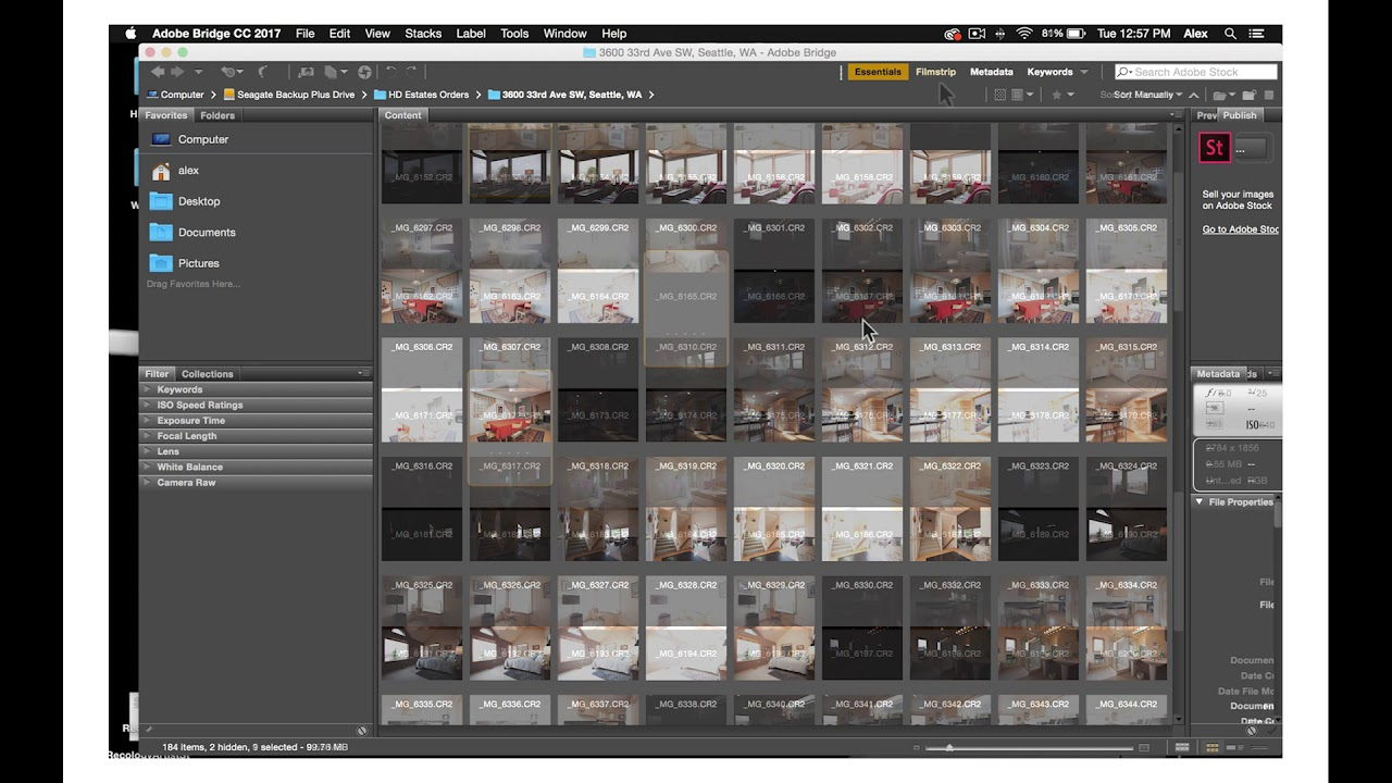 Photographer Tutorial 16: How to master the basics of Adobe Bridge for Real Estate