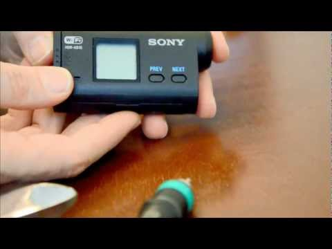 Sony HDR AS15 how to turn off / disable sound or beep