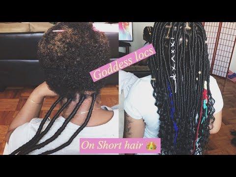 How to do GODDESS LOCS on SHORT HAIR !